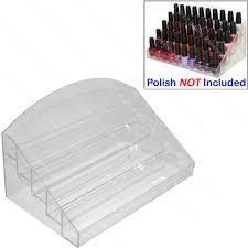 new acrylic nail polish table counter top display rack stand spa