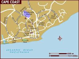 coast map map of cape coast