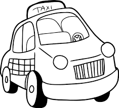 taxi driver car cartoon coloring page wecoloringpage
