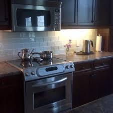 glass tile backsplash with dark cabinets subway tile kitchen backsplash ideas vintage kitchen furniture