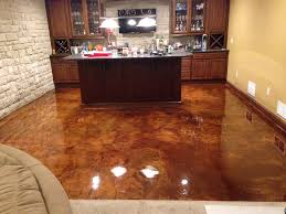 Floor Up by Warm Up Your Basement With A Rich Earth Tone Acid Stained Floor