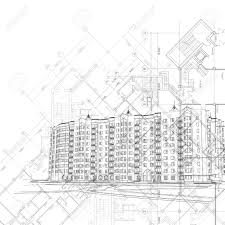 architectural layouts vector architectural graphic black and white background with