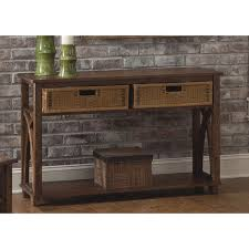28 sofa table with storage baskets console table foldable