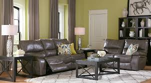 Grey Leather Living Room Set Home Gray Leather 5 Pc Living Room With