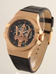 rose gold maserati maserati potenza skeleton automatic movement men u0027s watch by sector