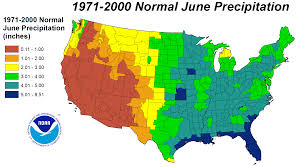 United States On A Map by Drought June 2012 State Of The Climate National Centers For