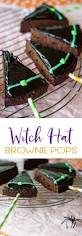halloween witch cake ideas witch hat brownie pops