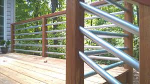 horizontal pipe deck railing home u0026 gardens geek