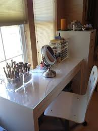 Ikea Micke Desk Makeup Desk Used As Vanity Love Lace Hello Beautiful My Ikea Dressing
