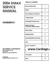 2006 hammer h1 service repair manual pdf free download