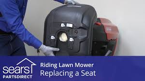 replacing a seat on a riding lawn mower youtube
