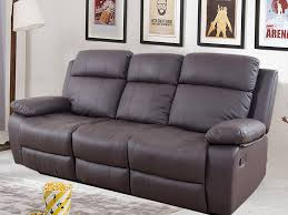 robert three seater recliner sofa in chocolate brown by urban