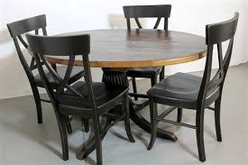 Inch Round Table With Monterey Pedestal ECustomFinishes - Black kitchen table