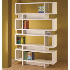 coaster bookcases contemporary white finish open bookcase