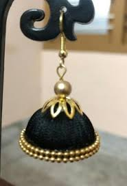 jhumka earring silk thread jhumka earrings for women wholesale indian jhumka