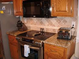 granite countertop ice white shaker kitchen cabinets backsplash
