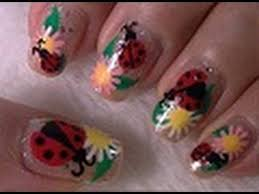 lady bug nail art tutorial arte para las unas de catalinas youtube