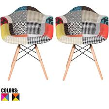 Multi Coloured Chairs by Amazon Com 2xhome Set Of Two 2 Multi Color Modern
