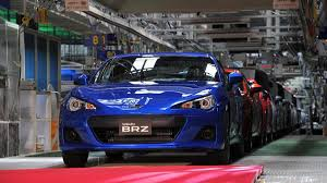 subaru scion toyota subaru launches production of brz scion fr s coupes in japan