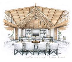hand rendering mick ricereto interior product design