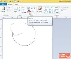 how to use eraser rubber tool in ms paint windows 8