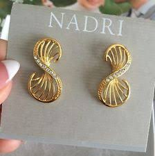nadri earrings nadri earrings 1 14k gold plated cz crystals stud gift