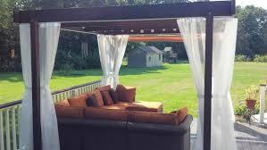 Pergola Mosquito Curtains Curtains Pergola With Mosquito Curtains Plus Comfy Sofa For Home