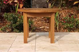sale teak round side table 24in oceanic teak furniture