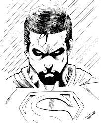 superman sketch by dark gates on deviantart