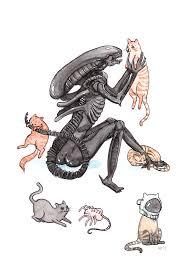 Cat Alien Meme - extra purrestrial 5x7 alien print