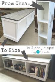 Cheap Tall Bookshelves by Take An Old Piece Of Laminate Furniture And Transform It Into A