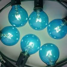 replacement blue 7 watt incandescent g40 globe light bulbs e12