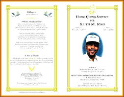memorial program ideas template memorial handout template