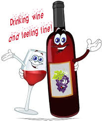 cartoon wine bottle drinking wine and feeling fine wine humor pinterest feeling