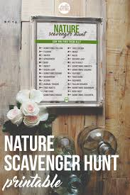 nature scavenger hunt printable hello nature
