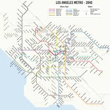 Map Of Orange County Ca Map A Potential 2040 Los Angeles Metro Subway System Map 89 3 Kpcc
