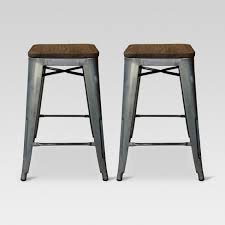 unique counter stools hden industrial wood top 24 counter stool metal threshold