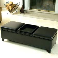Ottoman Leather Coffee Table Flip Top Ottoman Leather Cube Storage Tray Ottoman Coffee