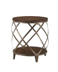 Wrought Iron Accent Table End Table Wood Side Tables Pallet Round And Iron End Table