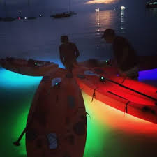 kayak lights for night paddling led lite equipped paddle board trips exploring the samui night