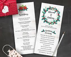 christmas wedding programs christmas concert invitation program christmas