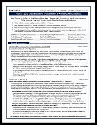 Sample Resume For Supply Chain Executive by Cover Letter Resume Format For Supply Chain Management Resume