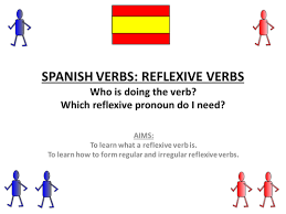 spanish reflexive verbs present self marking by darbonator