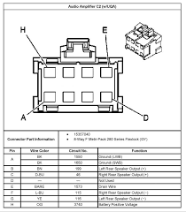 wiring schematic for bose amp speakers chevy trailblazer