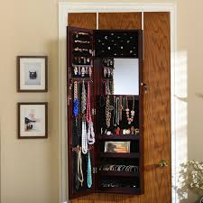 Wooden Jewelry Armoire Jewelry Armoires Bedroom Furniture The Home Depot