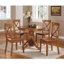 honey colored dining table home styles pedestal dining table cottage oak walmart com