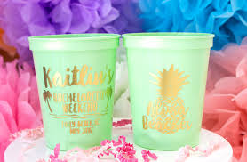 party cups bachelorette party favor aloha beaches custom party cups