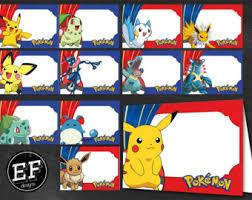 pokemon food labels etsy
