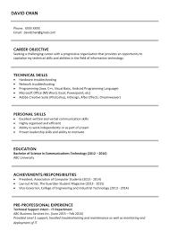Format For Resume For Internship Resume For Haadyaooverbayresort Com