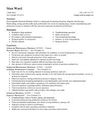 Resume Sample Machine Operator by Best Industrial Maintenance Mechanic Resume Example Livecareer